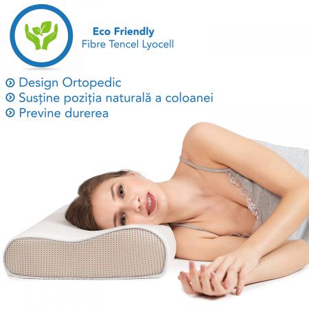 Pernă ergonomică de dormit cu fibre de bumbac și perforații [1]