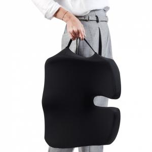 Perna Ortopedică Suport Coccis pentru scaun de birou sau mașină, spumă cu memorie, ameliorează durerile și îmbunătățește postura, confort sporit [2]