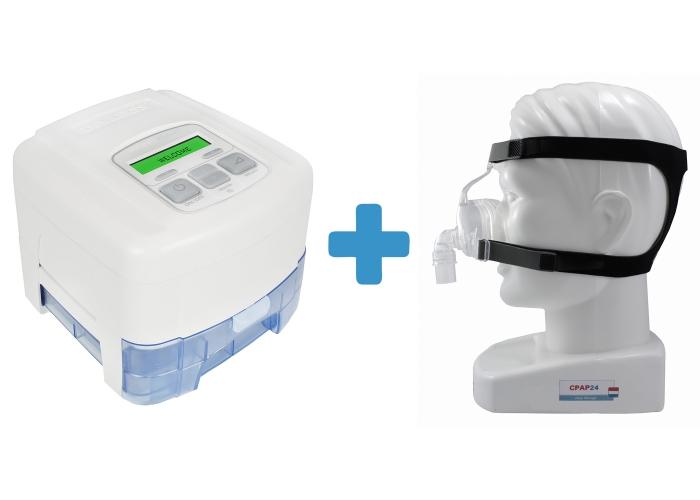 Оферта: Стандартен CPAP SleepCube Standard Plus + Подгряващ овлажнител за SleepCube + Назална маска D100N 0