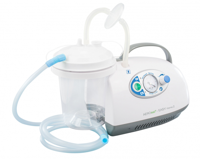 Aspirator Secretii AEROsuc EASY Home 2, 800 ml, 125-530 mmHg, 20 LPM, cu baterie 2
