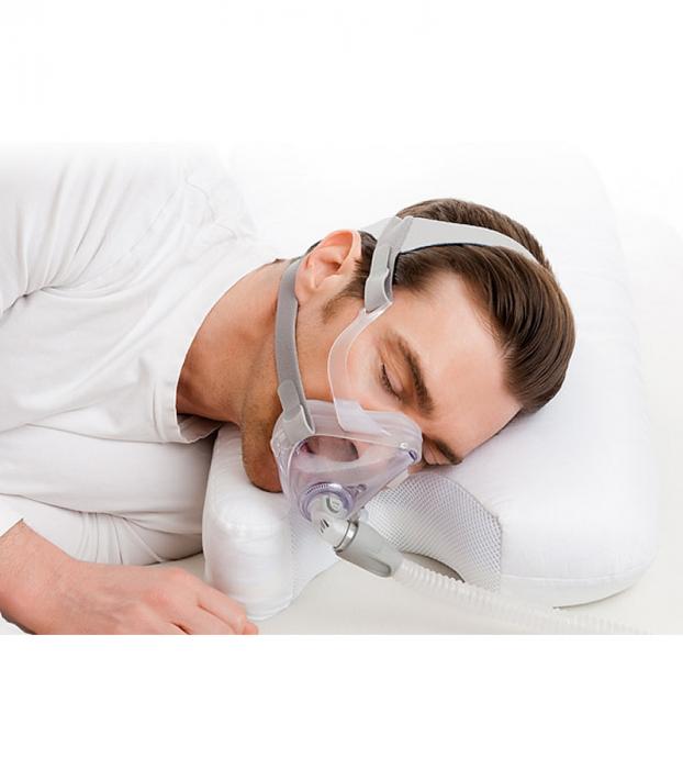 Perna CPAP 2în1 - spumă cu memorie, anatomică, 3 straturi ventilate, green tea 0