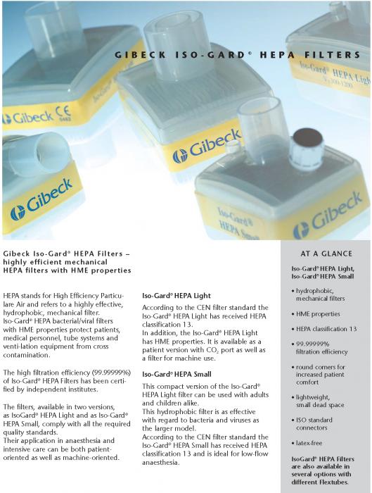 Filtru CPAP antibacterian si viral - Gibeck Iso-Gard HEPA Light, HEPA class 13 [2]
