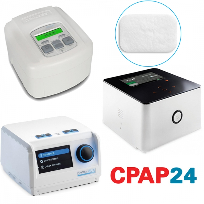 Filtru alb particule fine ( > 0.3 μm) CPAP DeVilbiss (SleepCube, Blue, Cube 30 ATV) 0