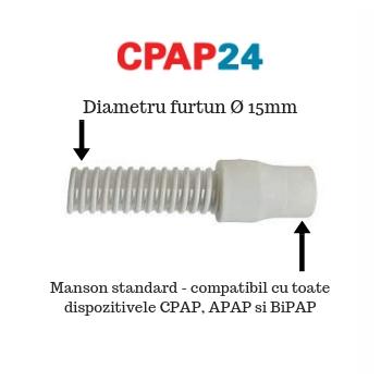 Furtun CPAP Blue StandardPlus & AutoPlus, DeVilbiss, Slim 1