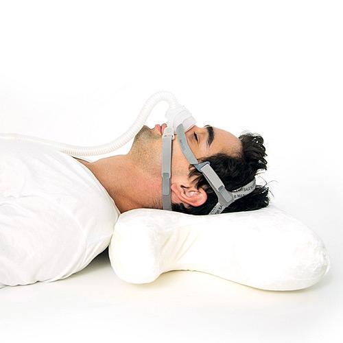 Perna CPAP 2în1 - spumă cu memorie, anatomică, gel cu efect răcoritor 2