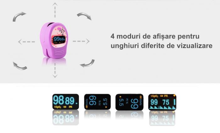Pulsoximetru pediatric PC‐60D2, display OLED 3