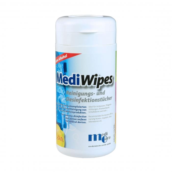 Servetele umede curatare/dezinfectare masca CPAP - MediWipes Lemon (115buc,30x30cm) 0