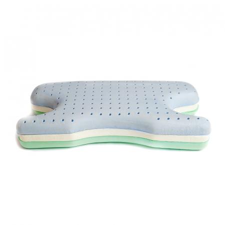Perna CPAP 2în1 - spumă cu memorie, anatomică, 3 straturi ventilate, green tea1
