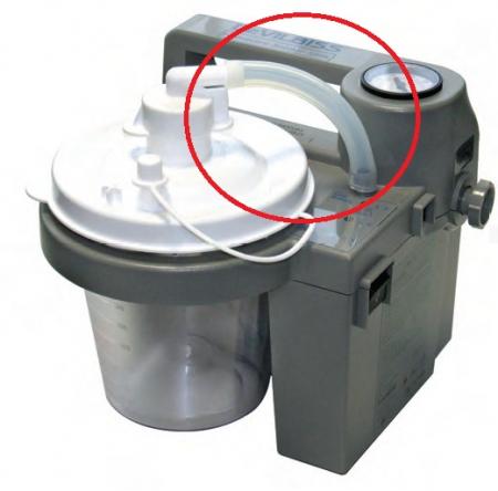 Furtun siliconic 11cm, Ø13mm - aspirator secretii VacuAide QSU [2]