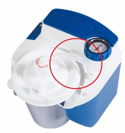 Furtun siliconic 11cm, Ø13mm - aspirator secretii VacuAide QSU [1]