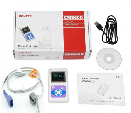 Pulsoximetru profesional Contec CMS60D, senzor reglabil pt. adult, copil sau nou nascut [1]