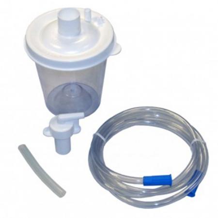 Pachet: Vas colector 800ml +Cartus filtrant +Tub 180cm +Tub 11cm - aspirator secretii Vacuide QSU0