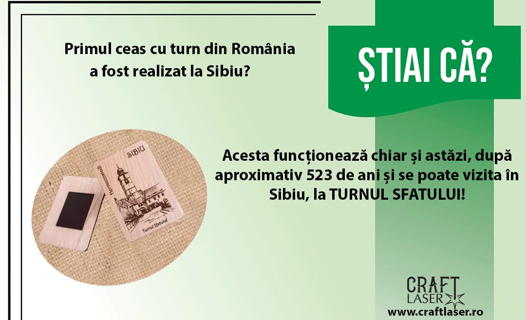 Stiai ca... Ceasul din Turnul Sfatului din Sibiu arata ora exacta, cu precizie elvetiana?