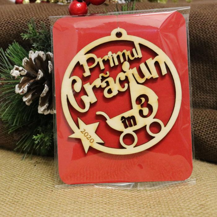 """Glob de Craciun personalizat """"Primul Craciun in 3"""" [2]"""
