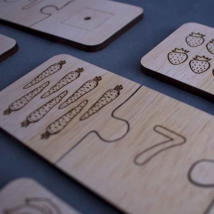 "Joc educativ pentru copii , din lemn, ""Sa invatam sa numaram"" 3"