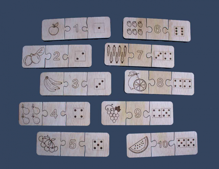 "Joc educativ pentru copii , din lemn, ""Sa invatam sa numaram"" 1"