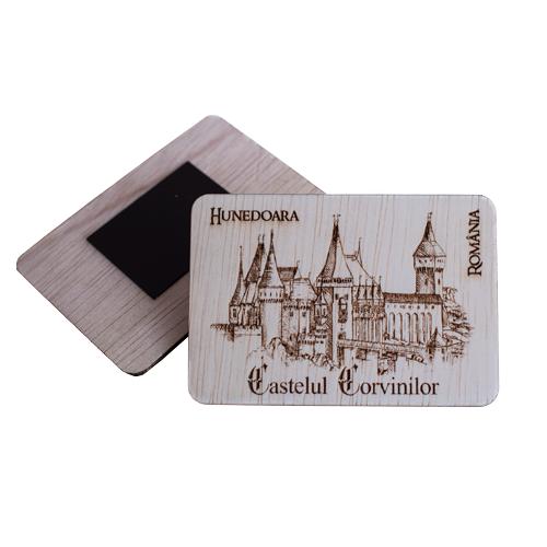 Magnet De Frigider Gravat Castelul Corvinilor Hunedoara [0]