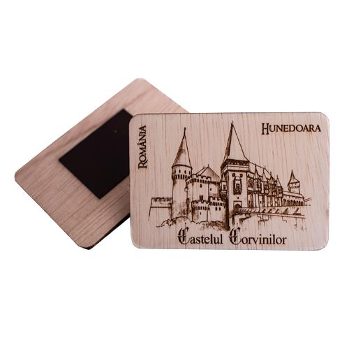 Magnet De Frigider Gravat Castelul Corvinilor Hunedoara 0