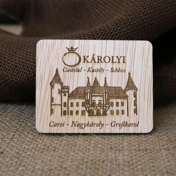 Magnet De Frigider Gravat,  Castelul Karolyi Carei 0
