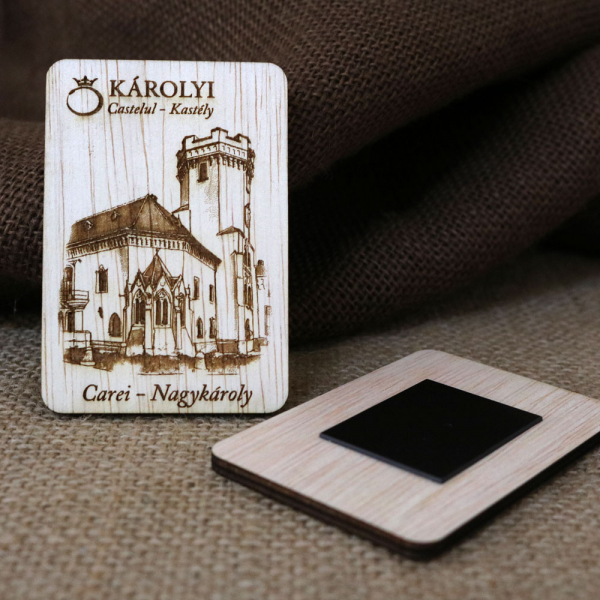 Magnet De Frigider Gravat,  vertical, Castelul Karolyi Carei 3