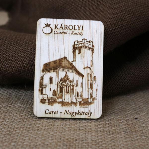 Magnet De Frigider Gravat,  vertical, Castelul Karolyi Carei 0