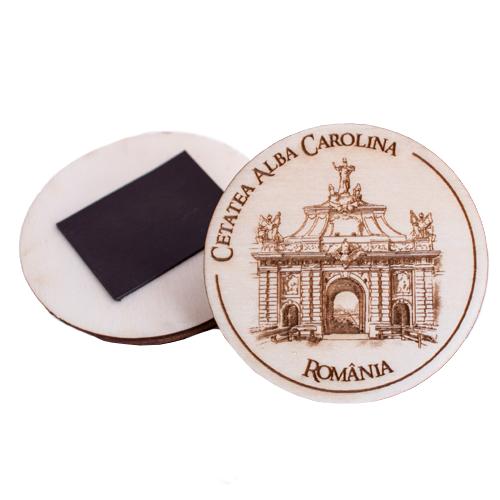"Magnet de frigider rotund ""Poarta A III-A Cetatea Alba Iulia"" 0"