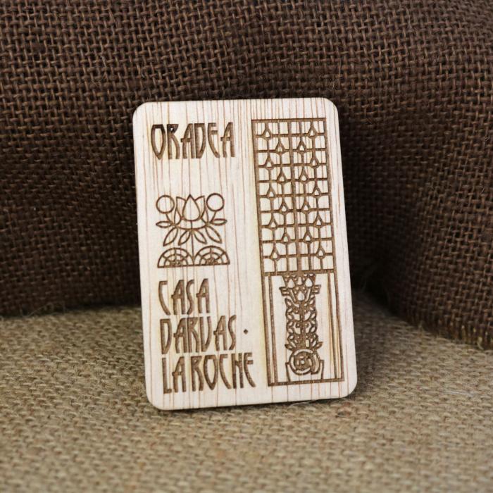 Magnet De Frigider suvenir, Gravat, simboluri Art Nouveau, Casa Darvas La Roche Oradea [0]