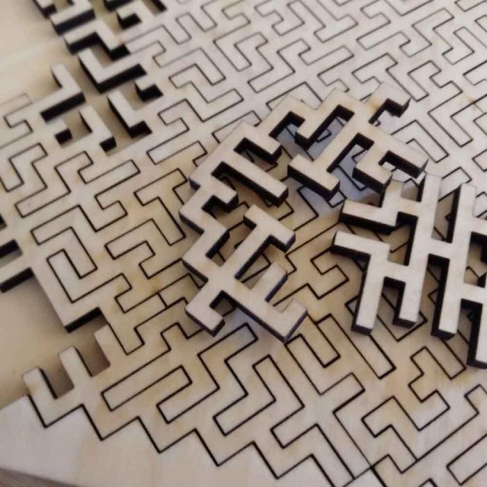 """Puzzle Distractiv Din Lemn, Pentru Adulti Si Copii """"Antreneaza-Ti Mintea"""" [1]"""