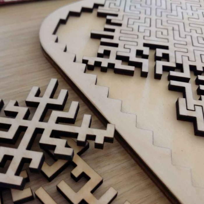 """Puzzle Distractiv Din Lemn, Pentru Adulti Si Copii """"Antreneaza-Ti Mintea"""" [2]"""