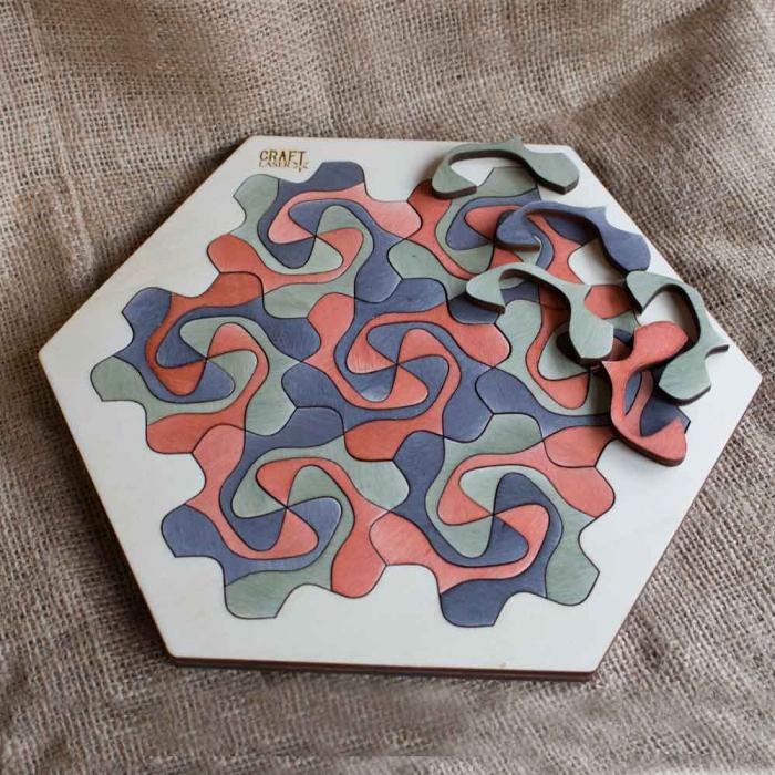 """Puzzle Pentru Adulti Si Copii, Din Lemn, """"Mandala"""" Personalizat [9]"""