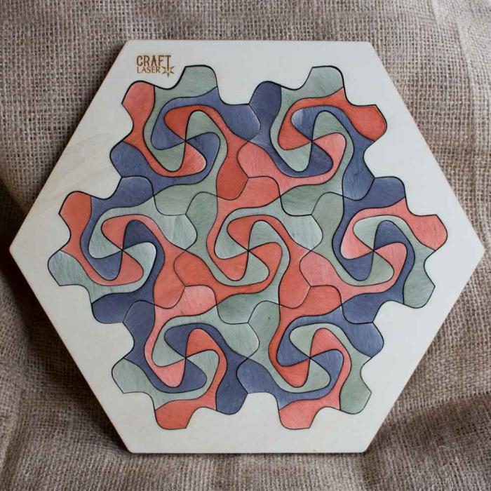 """Puzzle Pentru Adulti Si Copii, Din Lemn, """"Mandala"""" Personalizat [1]"""