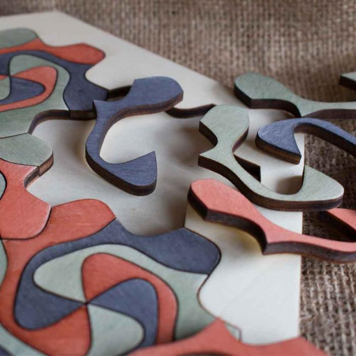 """Puzzle Pentru Adulti Si Copii, Din Lemn, """"Mandala"""" Personalizat [4]"""