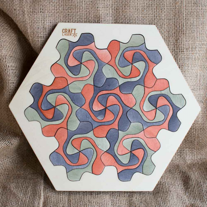 """Puzzle Pentru Adulti Si Copii, Din Lemn, """"Mandala"""" Personalizat [12]"""