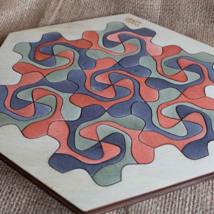 """Puzzle Pentru Adulti Si Copii, Din Lemn, """"Mandala"""" Personalizat [11]"""