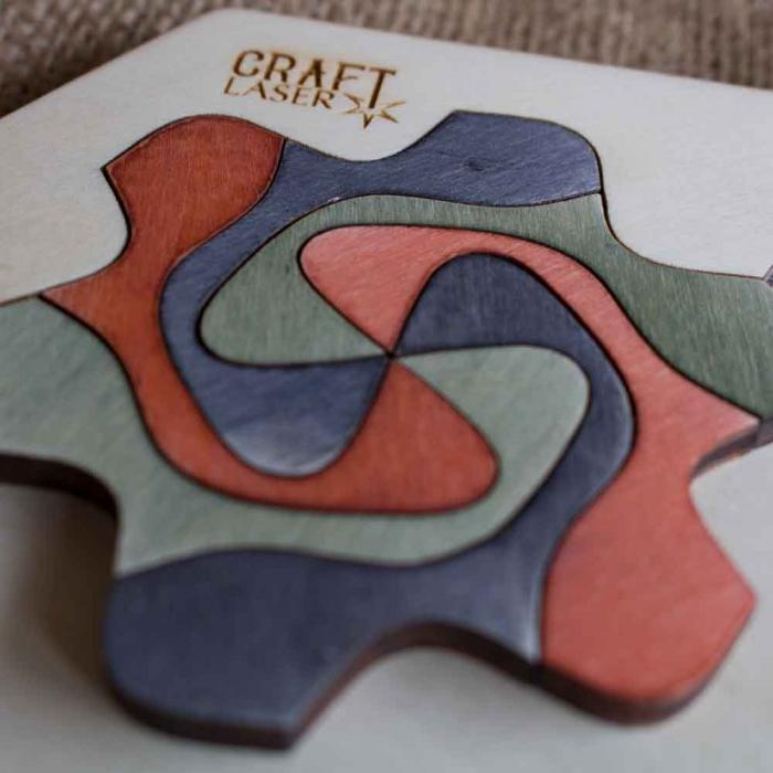 """Puzzle Pentru Adulti Si Copii, Din Lemn, """"Mandala"""" Personalizat [13]"""