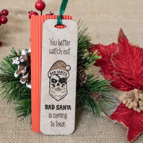 """Semn de carte """"Bad Santa"""" 1"""