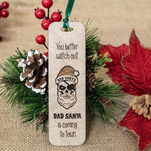 """Semn de carte """"Bad Santa"""" 0"""