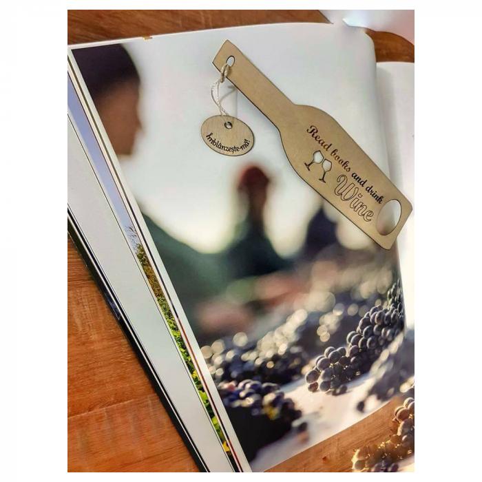 Semn de carte cu mesaj personalizat Sticla de Vin [2]