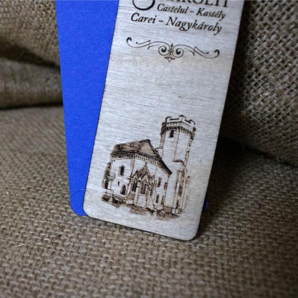 Semn de carte gravat Castelul Karolyi Carei 2