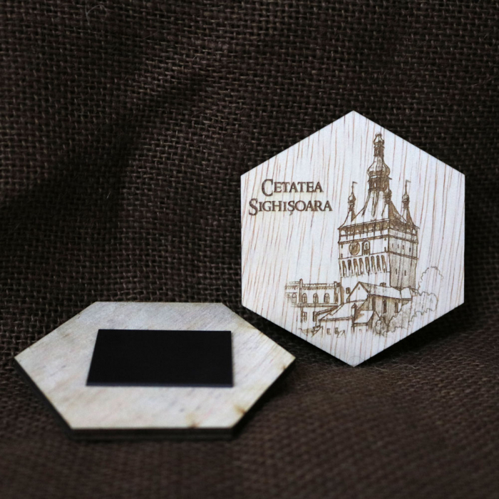 """Set magneti de frigider gravati, """"Cetati si Castele"""" din Romania [8]"""