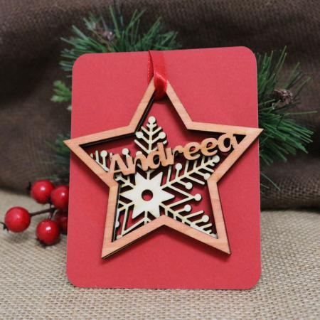 "Glob De Craciun Din Lemn, Personalizat, ""Christmas Spirit"" [2]"