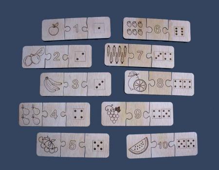 "Joc educativ pentru copii , din lemn, ""Sa invatam sa numaram""1"