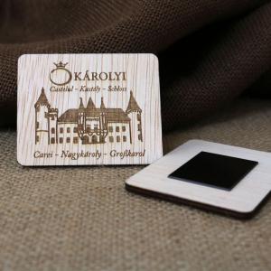Magnet De Frigider Gravat,  Castelul Karolyi Carei1