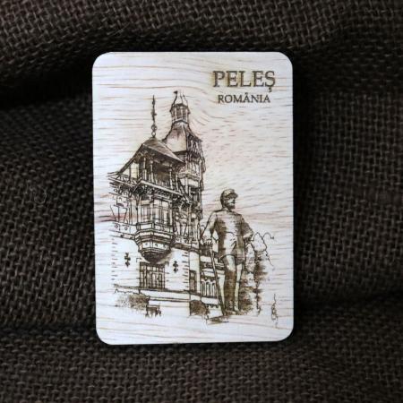"""Magnet de frigider gravat """"Castelul Peles""""Sinaia - Regele Carol I [0]"""