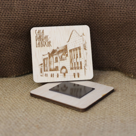 Magnet De Frigider suvenir, Gravat, Casa Darvas La Roche, Art Nouveau, Oradea [1]