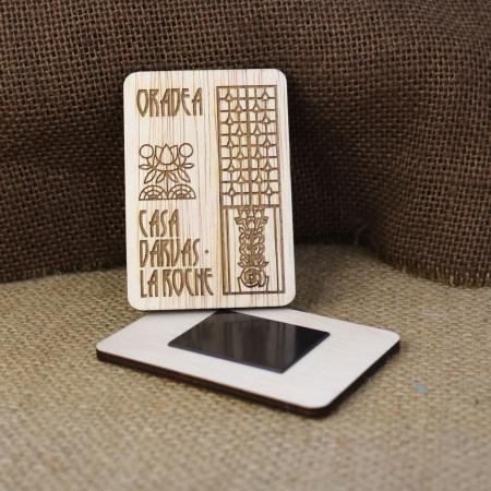 Magnet De Frigider suvenir, Gravat, simboluri Art Nouveau, Casa Darvas La Roche Oradea [1]