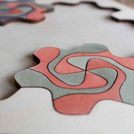 """Puzzle Pentru Adulti Si Copii, Din Lemn, """"Mandala"""" Personalizat [7]"""