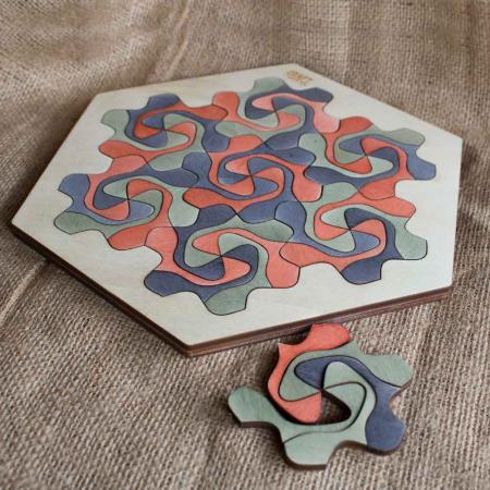"""Puzzle Pentru Adulti Si Copii, Din Lemn, """"Mandala"""" Personalizat [10]"""