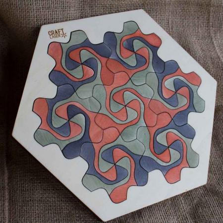 """Puzzle Pentru Adulti Si Copii, Din Lemn, """"Mandala"""" Personalizat [2]"""