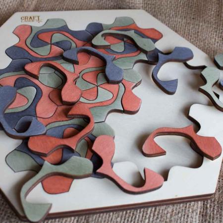 """Puzzle Pentru Adulti Si Copii, Din Lemn, """"Mandala"""" Personalizat [0]"""